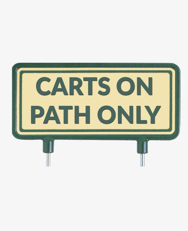 Fairway Signs Quot Carts On Path Only Quot Includes Two 14 Cm Stakes